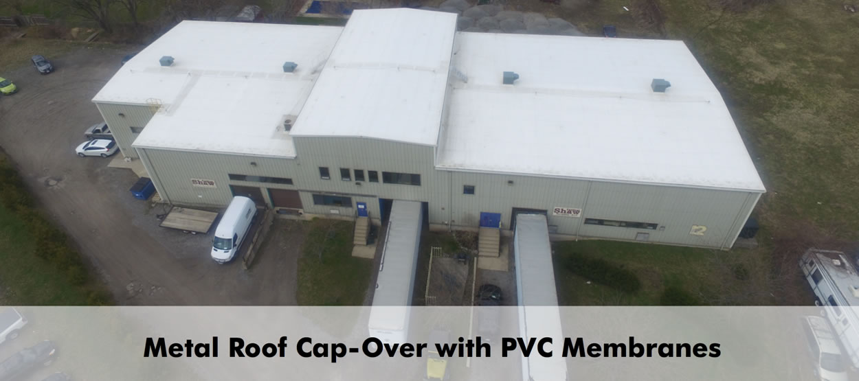 Metal Roof Cap-Over With PVC Membrane